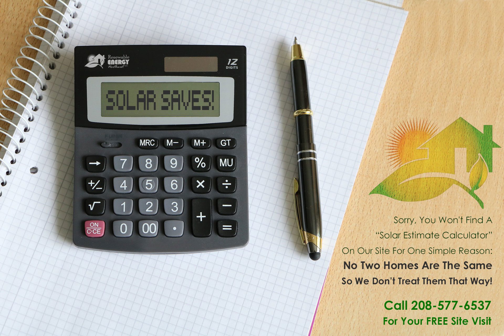 You Won't Find A Solar Calculator Here!